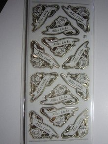 Sticker Ziersticker, Gravur Stickerbogen, 23 x 10cm, mit Text Auswahl