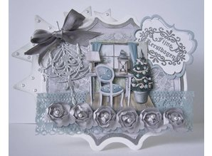 Amy Design Cutting and embossing stencils, nostalgic Bench