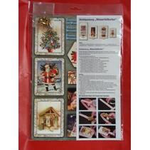 Bastelset el acondicionamiento de 4 tarjetas de cascada para la Navidad