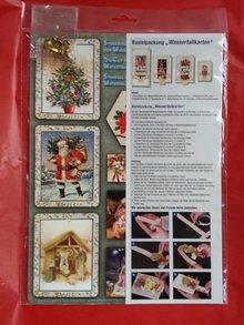 Exlusiv Bastelset el acondicionamiento de 4 tarjetas de cascada para la Navidad
