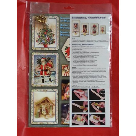 Exlusiv Bastelset about design of 4 waterfall cards for Christmas