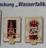 Exlusiv Bastelset A zur Gestaltung von 4 Wasserfallkarten mit schöne Weihnachtsbilder