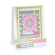 Sizzix Cutting dies + matching stamp for flowers