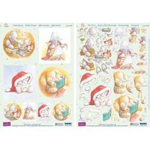 """3D Stanzbogenset """"Humphrey Corner"""" - Christmas"""