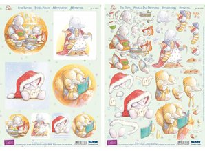 "BILDER / PICTURES: Studio Light, Staf Wesenbeek, Willem Haenraets 3D Stanzbogenset ""Humphrey's Corner"" - Christmas"