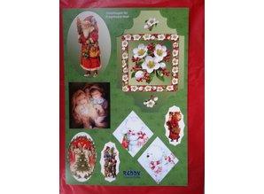 BILDER / PICTURES: Studio Light, Staf Wesenbeek, Willem Haenraets Stanzbogenset: 4 sheet with punched-out Christmas motifs