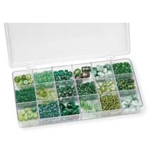 Assortiment van glazen kralen, groen