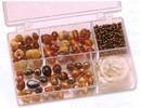 Schmuck Gestalten / Jewellery art Schmuckbox glasperler sortiment brun