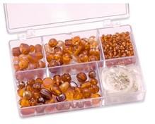 Schmuck Gestalten / Jewellery art Perle di vetro di colore arancione assortimento Schmuckbox