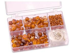 Schmuck Gestalten / Jewellery art Schmuckbox glasperler sortiment appelsin