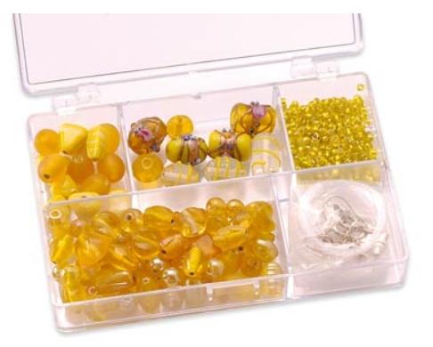 schmuckbox glasperlensortiment gelb hobby crafts and paperdesign. Black Bedroom Furniture Sets. Home Design Ideas