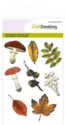 Crealies und CraftEmotions Transparent Stempel, Thema: Blätter