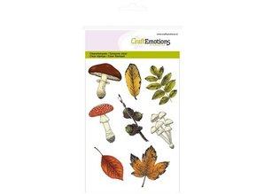 Crealies und CraftEmotions Gennemsigtige frimærker Emne: Blade