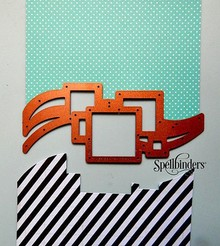 Spellbinders und Rayher Stamping and Embossing stencil, Spellbinders, border with squares