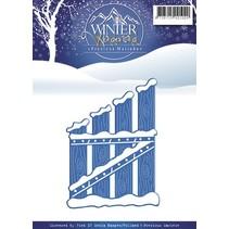 Skæring og prægning stencils, Winter Wonderland
