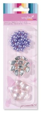 Schmuck Gestalten / Jewellery art Mix beads, purple-pink