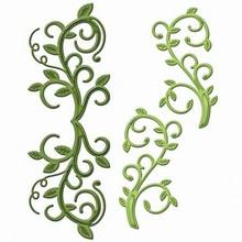 Spellbinders und Rayher Stempling og prægning stencil, Spellbinders, metal stencil Shapeabilities, grene med blade