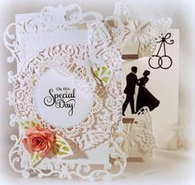 Spellbinders und Rayher Stamping and Embossing stencil, Spellbinders, lace decorative frame around