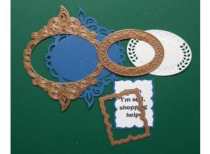 Spellbinders und Rayher Spellbinders, stansning og prægning skabelon Nestabilities, filgrane Dekorative ornamental ramme