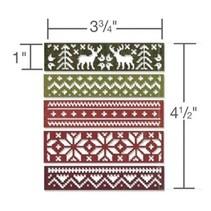 Stanz- und Prägeschablone, Bordüren mit Wintermotive