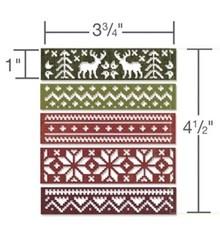 Sizzix Stansning og prægning stencil, grænser med Wintermotive