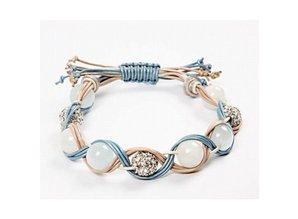 Smykker håndværk sæt med 3 farvede læderremme og perler