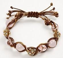 Gioielli mestiere set di 3 cinghie di cuoio colorate e perline