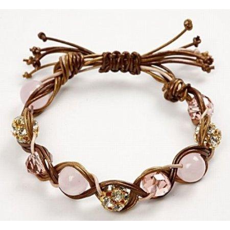 Schmuck Bastelset mit 3 farbige Lederbänder und Perlen