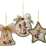 Embellishments / Verzierungen 3 Acrylglasscheiben, Form: Glocke, rund und Stern