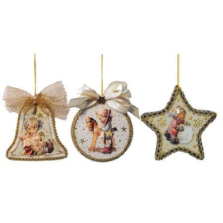 Embellishments / Verzierungen 3 hojas de vidrio acrílico, forma: campana, redondo y calificación