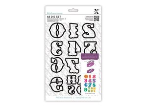 X-Cut / Docrafts X-Cut, cutting stencils with single, large numbers