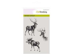 Crealies und CraftEmotions Transparent stamps, reindeer