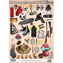 A4 Stanzbogen, Thema: Sport