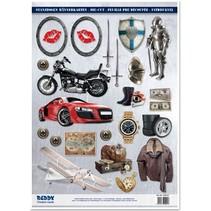A4 afskårne ark, Emne: Mænd designs