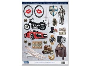 Embellishments / Verzierungen A4 cut sheets, Topic: Men designs