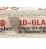 FARBE / INK / CHALKS ... 3-D Glasdecor-Pen 30 ml