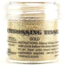FARBE / INK / CHALKS ... Ranger, Embossing Pulver, guld