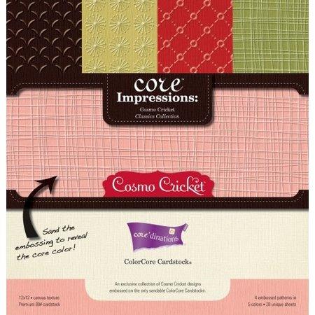 Designer Papier Scrapbooking: 30,5 x 30,5 cm Papier Designer Block, 30,5 x 30,5 cm, Core Impressions