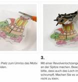 BASTELZUBEHÖR / CRAFT ACCESSORIES 4 películas retráctiles hojas con motivo de hoja de 10,5x14,5 cm