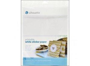Silhouette En printable mærkat papir - hvid