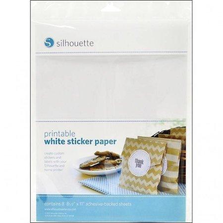 Silhouette A printable sticker paper - white