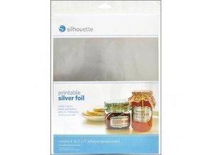 Silhouette Printable mærkat film - Sølv
