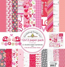 Designer Papier Scrapbooking: 30,5 x 30,5 cm Papier Designerblock, 30,5 x 30,5cm
