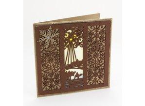 Creative Expressions Stansning og prægning stencil Den Festive Collection - vise mænd Mini Striplet