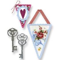 Stempling skabelon, bannere og nøgler