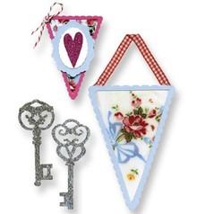 Sizzix Stampaggio template, banner e chiavi