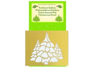Schablonen und Zubehör für verschiedene Techniken / Templates Embossingschablonen, Weihnachtsbaümen