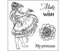 """Stempel / Stamp: Transparent Gennemsigtige frimærker sæt, """"Make A Wish"""""""