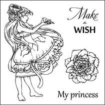 """Gennemsigtige frimærker sæt, """"Make A Wish"""""""