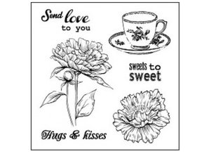 "Stempel / Stamp: Transparent Transparent stamps set, ""Sweets To Sweet"""